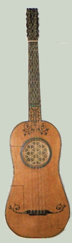 Guitarra de cinco órdenes dobles, 1590